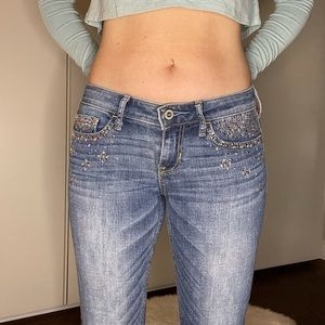Hollister Jeans with Rhinestones